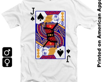 Jack of Spades American Apparel Men/Women T-shirt S-XXL, Funny, Playing Card, Gambling, Poker, Black Jack, Magic,  Cool Gift!