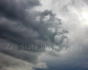 Tentacles Cloud Photography. Cloud Watching Sky Photography Print. Clouds Wall Art. Unframed Photo Print, Framed Print, or Canvas Print.