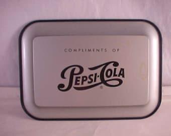 Pepsi Cola Metal Tip Tray Change Tray Advertising