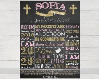 Baptism girl, baptism chalkboard, baptism sign, baptism girl gift, baptism decorations, Christening Chalkboard, christening girl, printable