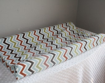 Woodland Chevron Contour Changing Pad Cover