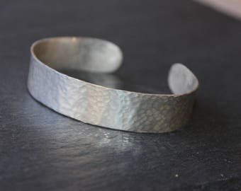 Hand Hammered Sterling Silver Cuff