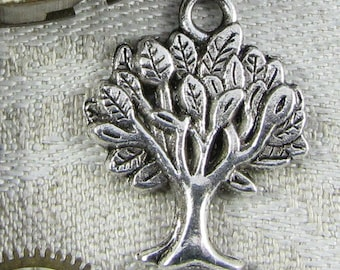 1 or 12, Tree Charm, Tree, Forest Charms, Apple Tree, Silver Tree, Eco Charm, Environment Charm, Fruit Tree, Tree Charms, NAT008