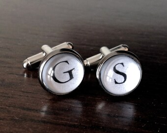 Typewriter cuff links // Initial cufflinks // personalized cuff links