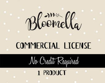 Commercial License - Bloomella Clipart - 1 Product Only