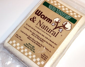 """Warm & Natural Batting, Cotton, Quilt Batting, Natural, Baby Size, 46""""x60"""", Made in USA, The Warm Company, Needle Punched, Soft,Best Quality"""
