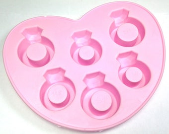 Silicone Ring Mold, ring party favor mold, diy soap mold, ring mold for chocolates, ring mold for soap, melt and pour ring mold