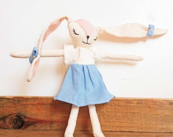 YuMe - little bunny. Doll Bunny approximately 14 cm. France