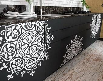 Mandala Decor Stencil - Mandala Motive Wall Stencil - Original And Unique Furniture Stencil