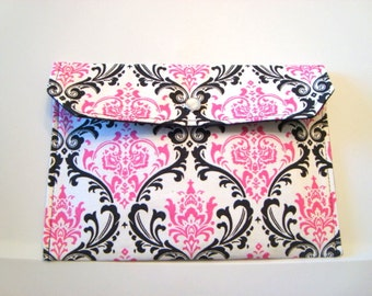 Cash Envelope Budget Use for the Dave Ramsey System or Coupon Organizer - Pink and Black Damask