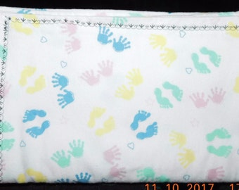 "30"" by 40"" Homemade Snuggle Flannel Reversible Baby Blanket"
