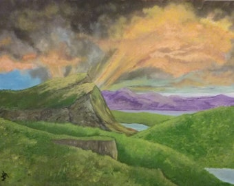 Order a Custom Painting, Scotland Landscape Painting on Canvas
