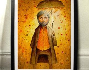Sushine under the rain - Art print