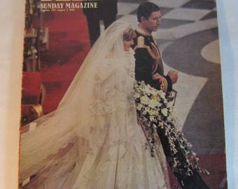 Vintage August 2nd 1981 Telegraph Sunday Magazine Commemorative Royal Wedding Issue.