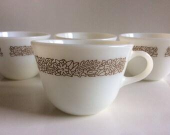 Woodland Brown Milk Glass Cup | Pyrex | USA | Vintage