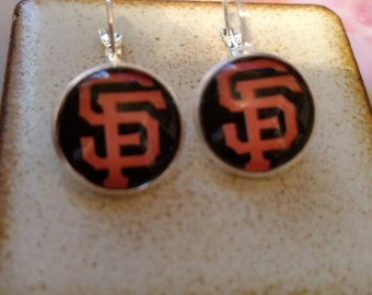 Pair of San Franciso Giants French Lever Back Style Earrings