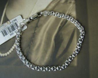 Macy's Sterling Silver Mesh Link Bracelet, Sterling Silver Link Bracelet, Sterling Sold At Macy's