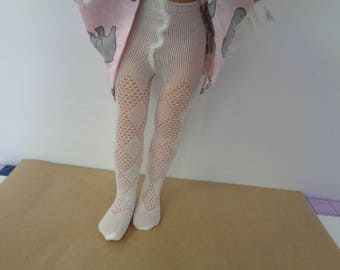 White  Lace Tights- leotard- stockings- Only fits Les Cheries Dolls