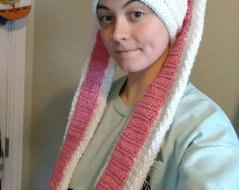 Crochet Rabbit Ears Beanie