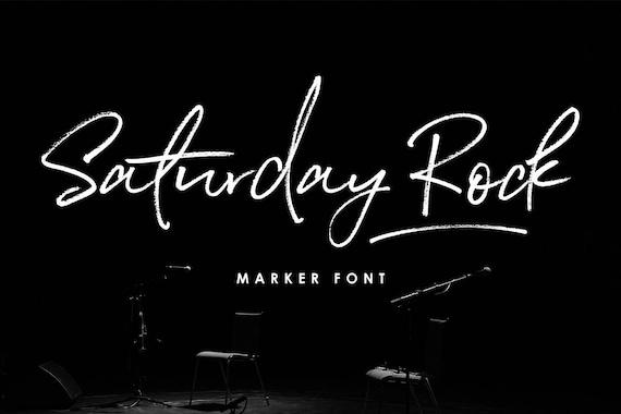 Calligraphy Font, Modern Calligraphy, Digital Fonts, Wedding Font, Invitation Font, Script Font, Digital Download, Saturday Rock