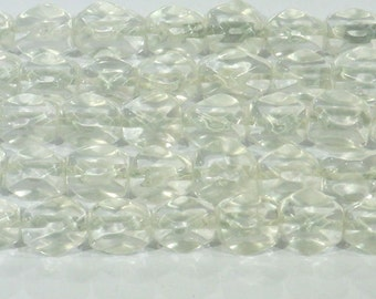10x14mm Nugget Cut Rock Crystal Beads Genuine Natural 6315 15''L Semiprecious Gemstone Bead Wholesale Beads Supply