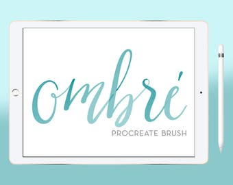 Calligraphy Procreate Brush, Lettering Procreate Brush for iPad Digital Watercolor brushProcreate 2 brushes for drawing or lettering