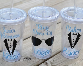 Junior groomsman gift, ring security, usher or ring bearer gift, you pick colors and name - personalize with name for free