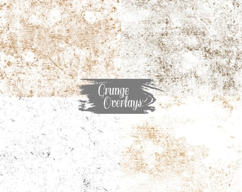 Grunge Texture Overlays - High Res 300 dpi Commercial Use - Set 2