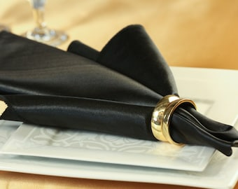 Black Napkin Satin