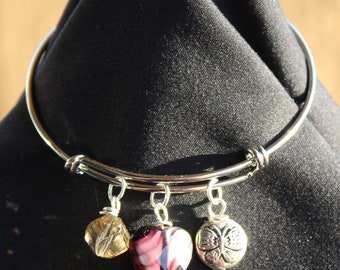 Oh the Butterflies Charm Bangle