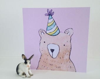 Party Bear Card