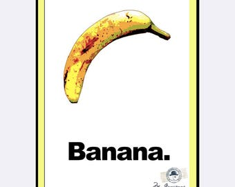 "BANANA—The World's Greatest Banana Poster 24""x36"" DIGITAL DOWNLOAD"
