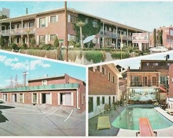 Royal Lodge Motel ~ El Paso  Texas - Vintage Color Postcard