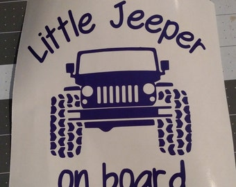 Little Jeeper / Jeepers on board  Vinyl Graphic Decal   Many color options