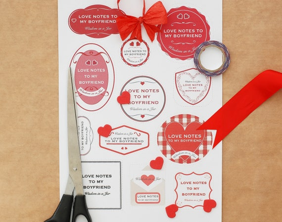 Printable love notes to my boyfriend messages jar