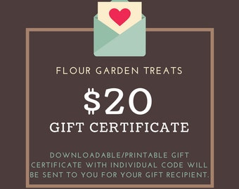 20 dollar gift certificate