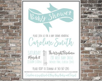 Baby Shower Invitation ~ Rustic | Shabby Chic ~ Personalized Printable Invite