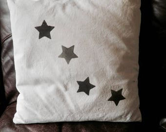 Star 100% linen cushion