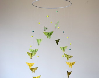 Baby night Butterfly origami mobile