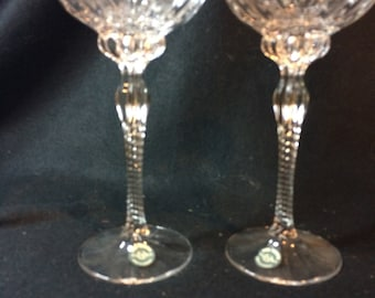 Pair of Fine Crystal, LENOX, Germany, Taper Candle Holders
