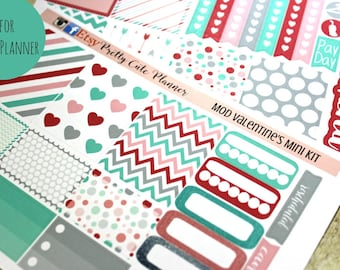 Happy Planner Stickers - Weekly Planner - Erin Condren Life Planner -  Functional stickers - Mod Valentine's Day - Spring Stickers