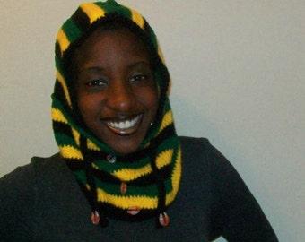 Jamaican Rebel, Crochet Winter Hoodie