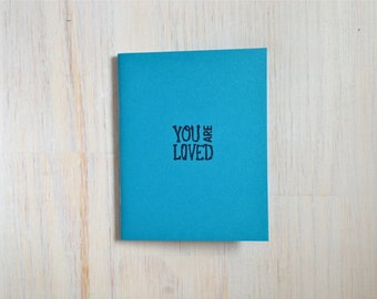 Medium Notebook: You Are Loved, Blue, Friendship, Blank Journal, Wedding, Favor, Journal, Blank, Unlined, Unique, Small, Notebook, RRR256