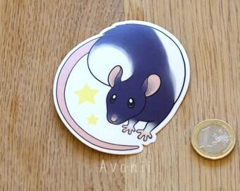 Star Rat Vinyl Sticker 3 inch
