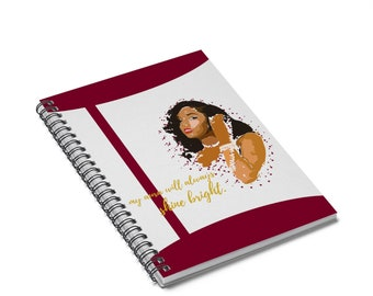 My Aura Shines Spiral Notebook