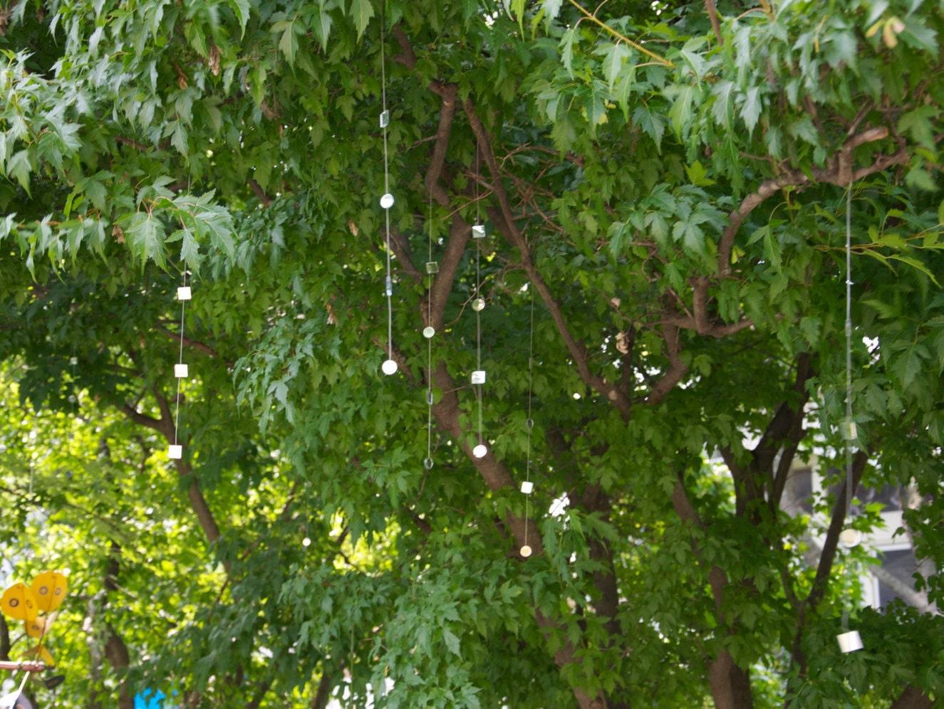 tree jewels glass art garden decor garden art zen garden