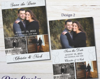 Printed Photo Save the Date Cards. Printed card with envelopes.