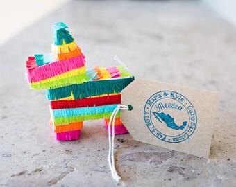 Mini Pinata, (6) Party Favor, Cinco de Mayo, Fiesta, Fiesta Decoration, Mexican Wedding Favor, Bridesmaid proposal, Fiesta Wedding Set of 6