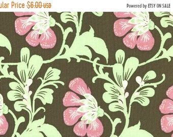 Summer Clearance SALE Amy Butler Fabric - 1 Yard Sweet Jasmine in Brown