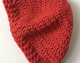 Coral Slouchy Crochet Hat // Women's Size // Winter // Lavender Made Co